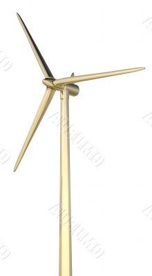 3d wind turbine mill gold