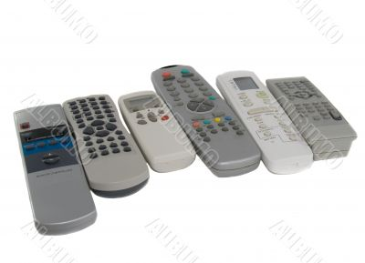 Many remote Control. Isolated over white