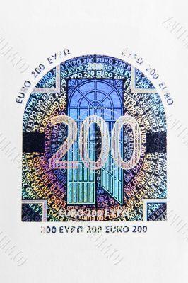 200 Euro Hologram Macro