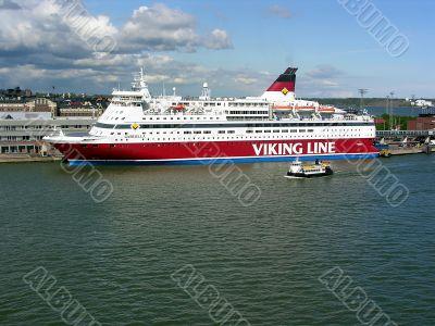 Helsinki. The tourist liner
