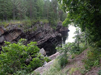 Imatra, Finland channel of a spillway