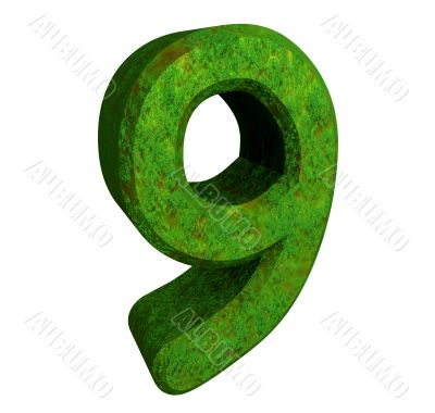 3d number 9 green
