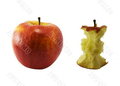 Apple And Core Of An Apple