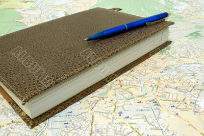 Map, Pen And Organizer