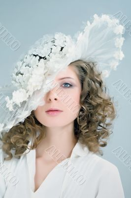 girl beautiful bride portrait