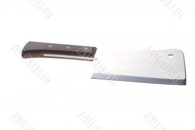 Big kitchen knife on white