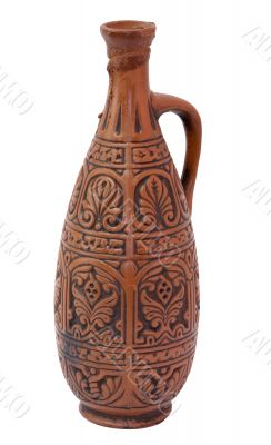 Ancient clay large bottle
