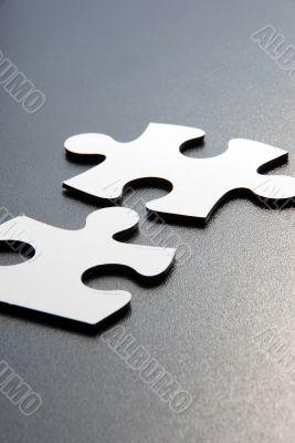 Close up shot of puzzle pieces