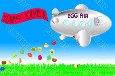 Bunny celebrate easter