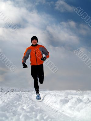 Runner in Snow