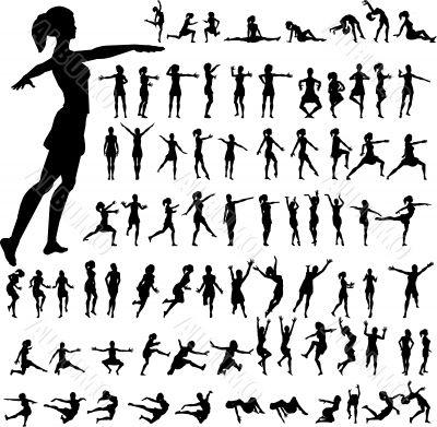 79 women silhouettes