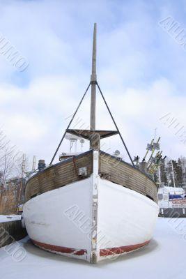 White Frozen Boat