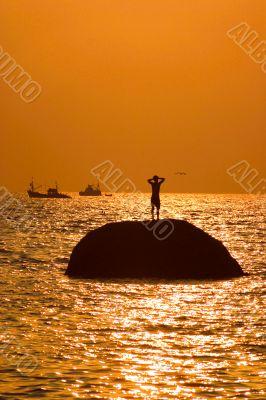 man on the island