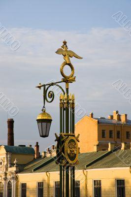 Lantern with symbols