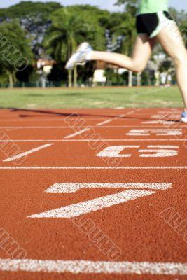 Sports track runner