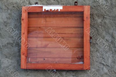 Wooden frame for announcements