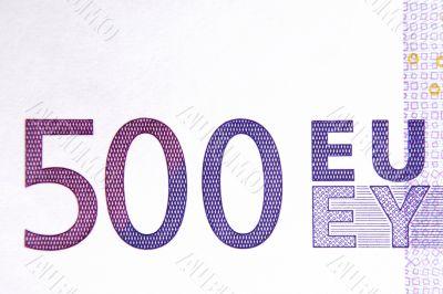 500 Euro Note Macro II