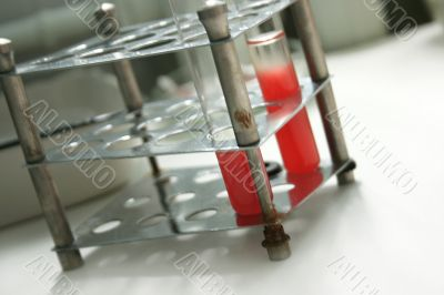 Test-tube with blood