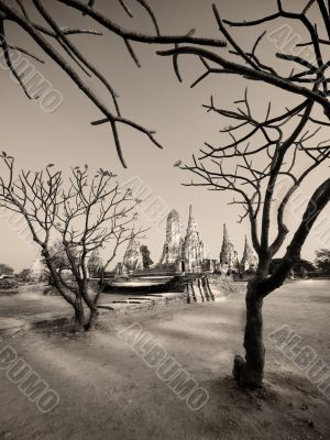Ancient wat in khemer style. Thailand