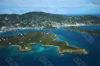 Aerial view of tropics