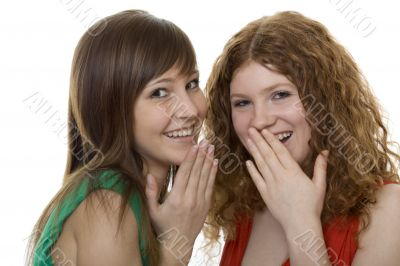 two women with gestures astonishment