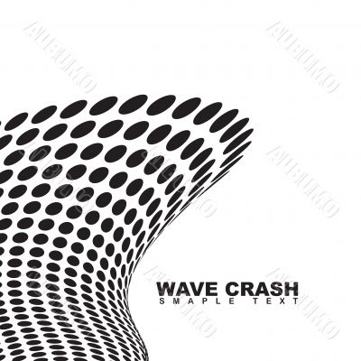 tall wave crash