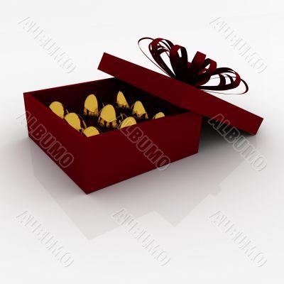 Easter egg in box