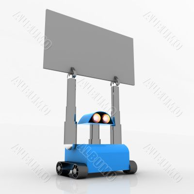 robot with advertising