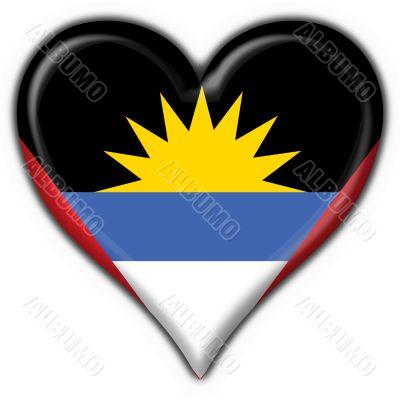 Antigua and Barbuda button flag heart shape