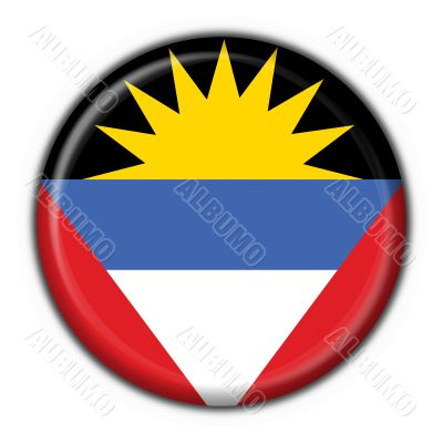 Antigua and Barbuda button flag round shape