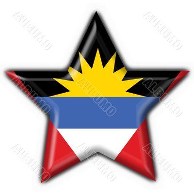 Antigua and Barbuda button flag star shape