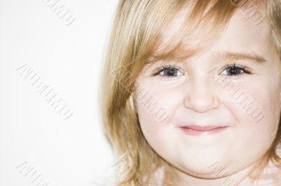 Little girl`s portrait