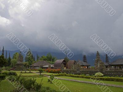 Bali temple meadow