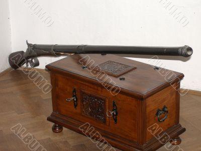 Gun for hunting for ducks. Czechia.