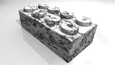block in marble stone - 3D made