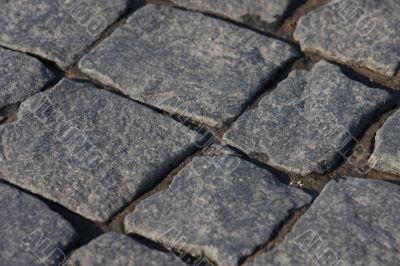 Granite paving.