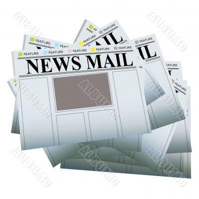 newspaper stack blank