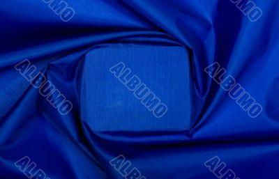 Blue textile square