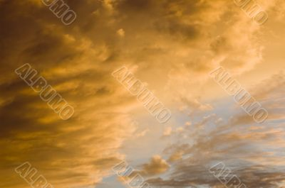 The Orange of Sunset on Clouds