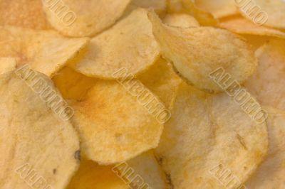 Appetizing potato chips