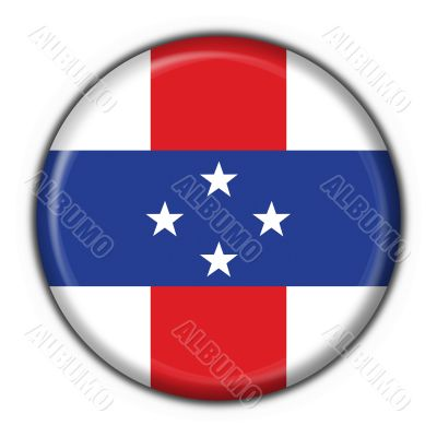 Netherlands Antilles button flag round shape