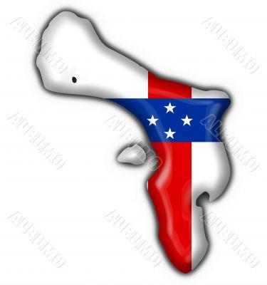 Bonaire Netherlands Antilles button flag map