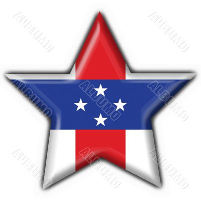 Netherlands Antilles button flag star shape