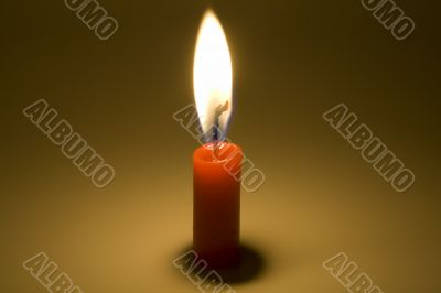 candle is burning