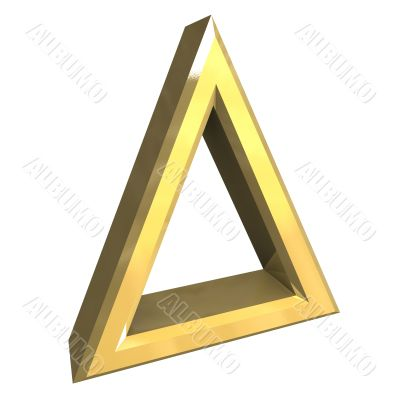 Bleaching allowed symbol in gold - 3D