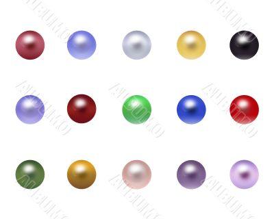 Varicoloured pearls