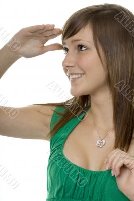 Teenager with gestures search