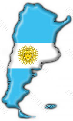 Argentina button flag map shape
