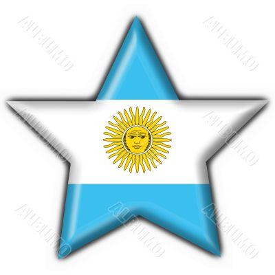 Argentina button flag star shape