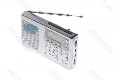 radio on white